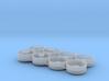 "(8) 520R46"" STEEL DISH DUAL & TRIPLE RIMS W/ HUBS 3d printed"
