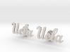 UCLA Cufflinks, Customizable 3d printed