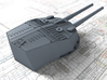 """1/192 HMS Invincible 1916 12"""" MKX Guns x4 3d printed 3d render showing Turret P and Q detail"""