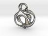 swirl pedant 3d printed