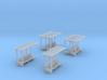 SET Waiting shelters (N 1:160) 3d printed