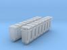 Trash bin Ver03. HO Scale (1:87) 3d printed