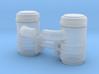 1/50th Donaldsen type Air Cleaner pair w elbows fo 3d printed