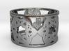 Floral Ring Design - Size 8 3d printed