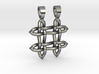 Hashtag celtic knot [pendant] 3d printed