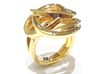 Ring Love is in the Air Medium (from $16) 3d printed Gold Ring  Air Love