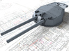 """1/144 HMS Australia/New Zealand 1915 12"""" MKX Guns  3d printed 3d render showing Turret P, Q and Y  detail"""