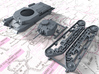 1/87 (HO) Scale Czech ST vz. 39 Medium Tank 3d printed 3d render showing parts on Sprue