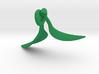 Green Tea Leaf Pendant 3d printed