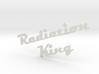 radiation king logo 3mm thick 3d printed