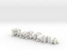 3dWordFlip: Pao & Chia  /Fio & Vale & Gael 3d printed