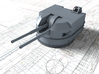 "1/96 Battle Class 4.5""/45 QF MKIV RP10 Gun x2 3d printed 3d render showing product detail"