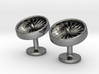 Jet Engine Cufflinks 3d printed