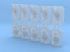 10x Cybornaut - Marine Boarding Shields w/Hand 3d printed