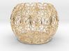 Tealight Holder Tiled Orb Indigo 3d printed