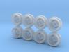 TRD Tosco 7-5 JH2 Hot Wheels Rims 3d printed