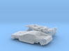 DeLorean Time Machine Train/Car N 1:160 V.2 3d printed