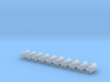 """ø4.8mm 3/16"""" Pipe Fittings 90° Elbow 10pc 3d printed"""