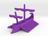 Carthaginian Trireme Stowed Sail Game Pieces 3d printed
