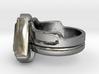 Doctor Evil Ring v2 size 7.50 17.75mm 3d printed