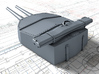 "1/700 HMS Hood 15"" Mark II Turrets 1941 B. Bags 3d printed 3d render showing X Turret detail"