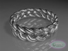 Best Celtic Knot Ring Std ring size 5 3d printed Raytraced DOF render - simulating raw silver material