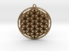 "Super Flower of Life (One Sided) Pendant 1.5"" 3d printed"