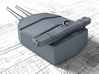 "1/600 HMS Hood 15"" Mark II Turrets 1941 B. Bags 3d printed 3d render showing A Turret detail"