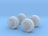 1/60 jantes avec déport/wheels  type Fuchs  X 4 3d printed