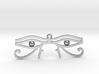 "Double Eye of Horus Pendant 2.5"" 3d printed"