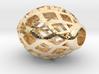 Oval ball pendant 3d printed