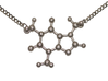 Caffeine Molecule Pendant 3d printed Polished nickel steel.