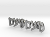 "Hebrew Name Cufflinks - ""Noam"" 3d printed"