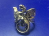 Whitby-wyrm dragon ring 3d printed