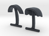 Daft Punk Cufflink Visors and Studs 3d printed