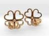 Floral Heart Cufflinks 3d printed