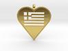 Greek Flag Heart Pendant / Ελληνική σημαία Καρδιά  3d printed