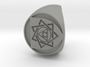 Custom Signet Ring 27 size 8.5 3d printed