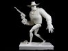 The Gunfighter (Large) 3d printed 10 inch print out. Turntable shot