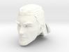 human head male 2 medium hair 3d printed