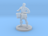 Male Human Bard with Bongos 3d printed