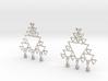 Fractal Earrings 3d printed