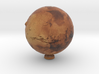 Mars with relief 1:150 million 3d printed