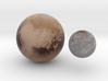 Pluto & Charon 1:100 million 3d printed