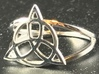 Triquetra ring 3d printed Triquetra knot ring in rhodium-plated brass.