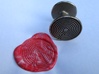 Labyrinth Wax Seal 3d printed a mixture of red and white wax