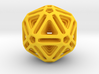 Nested Icosahedron for pendant 3d printed