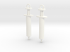 Syringe Earrings 2pc 3d printed