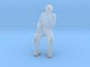Man Sitting: Head Bandaged Arm in Sling 3d printed