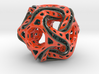 Ported looped drilled  cube colored 3d printed